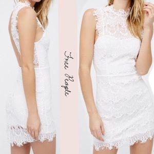 Free People Daydream Bodycon eyelash Lace Dress